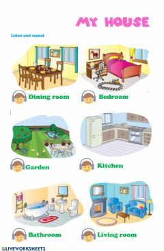 English Exercises: Parts of the house.