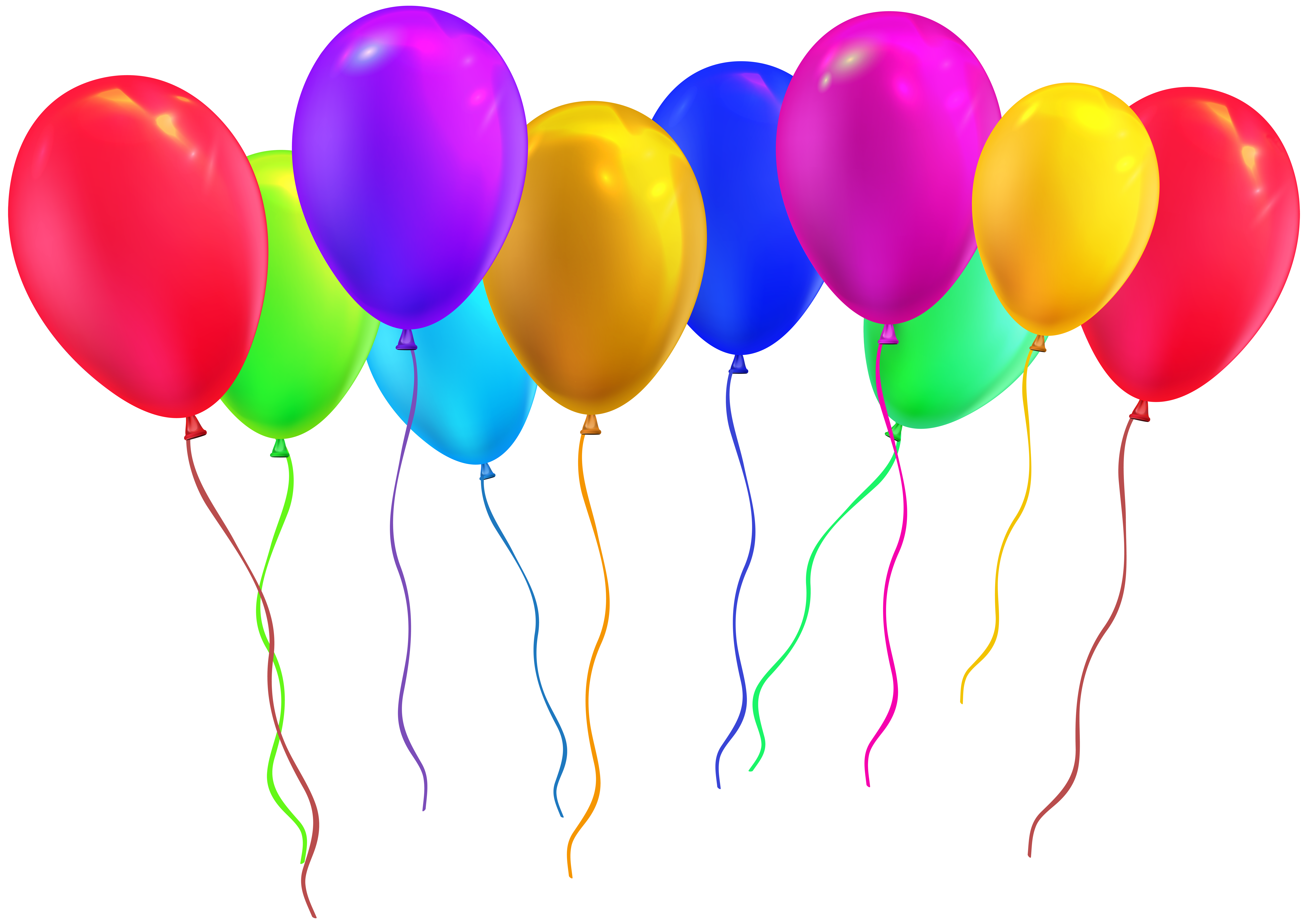 Party Balloons PNG Clip Art Image.