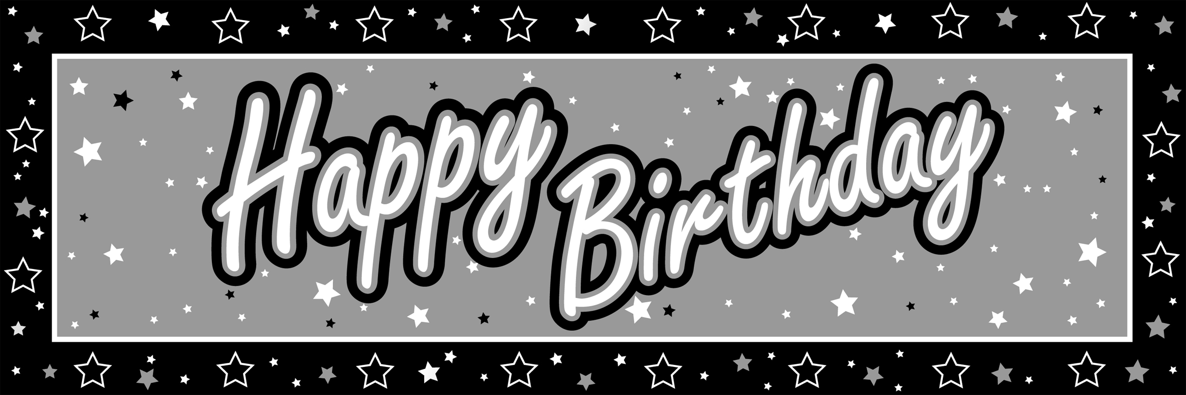 Similiar Black And White Birthday Banner Keywords.