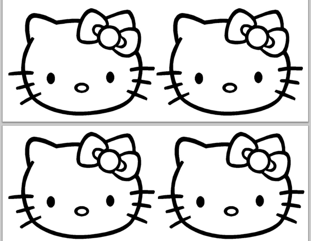 Hello Kitty Birthday Banner Template.