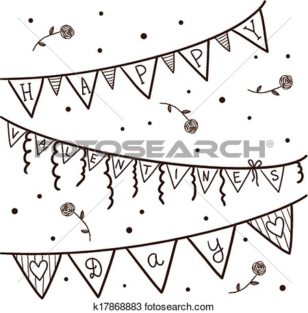 Party Decorations Clipart Black And White.