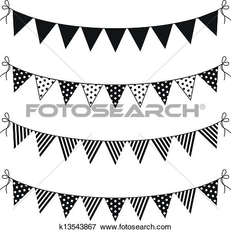 Clipart of usa bunting k17609111.