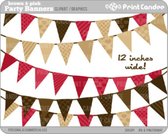 Birthday Party Banners (Bright Colors).