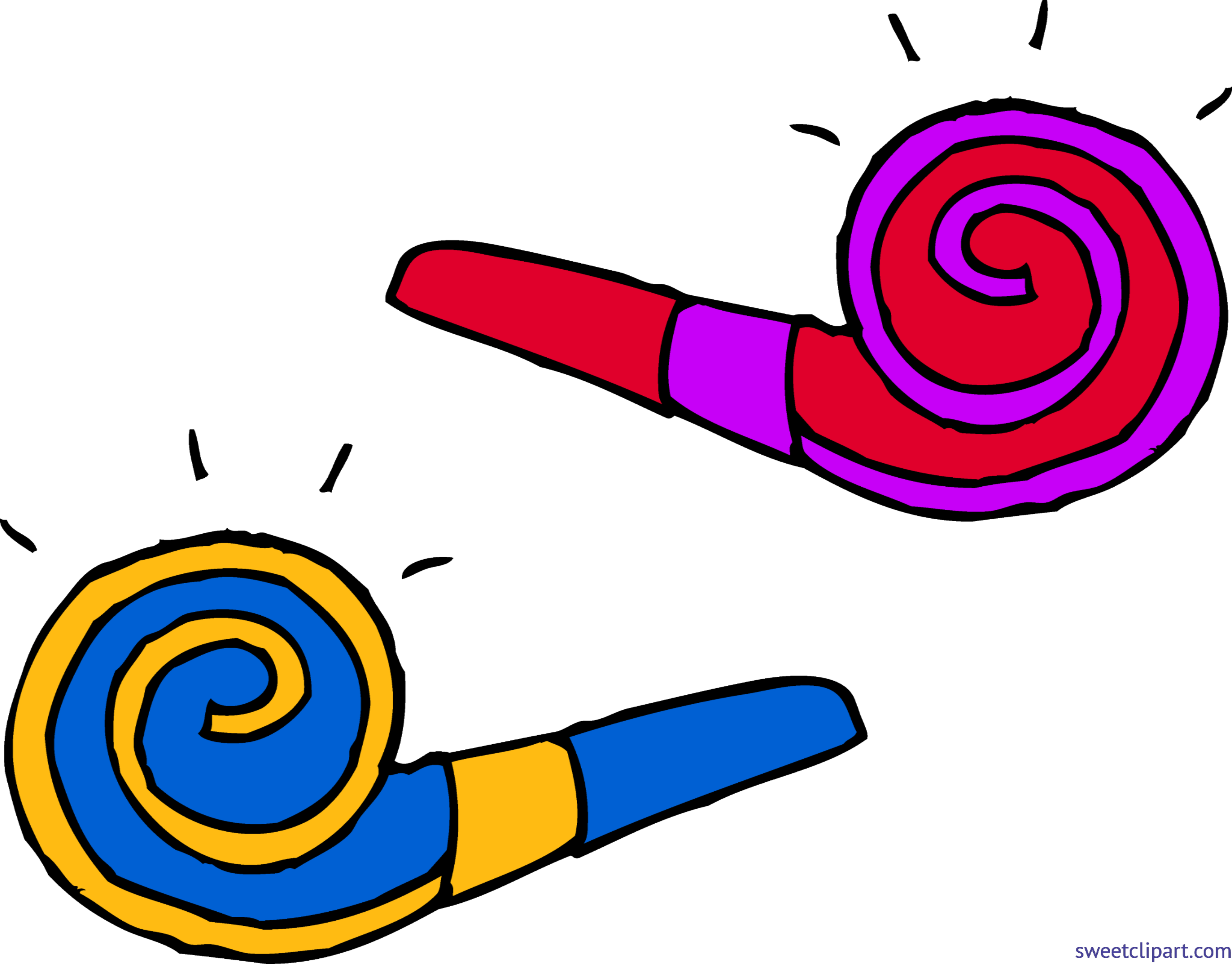 Party Blowers Clip Art.