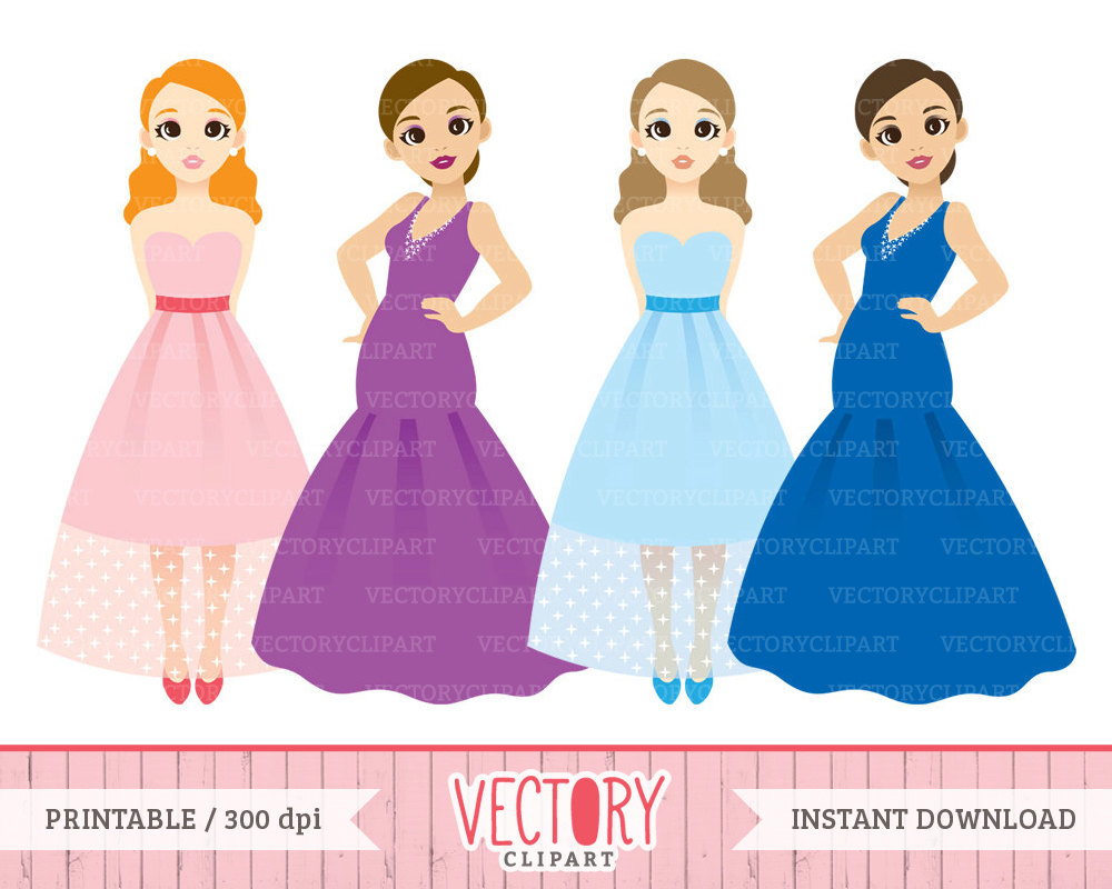 party dresses clipart - Clipground