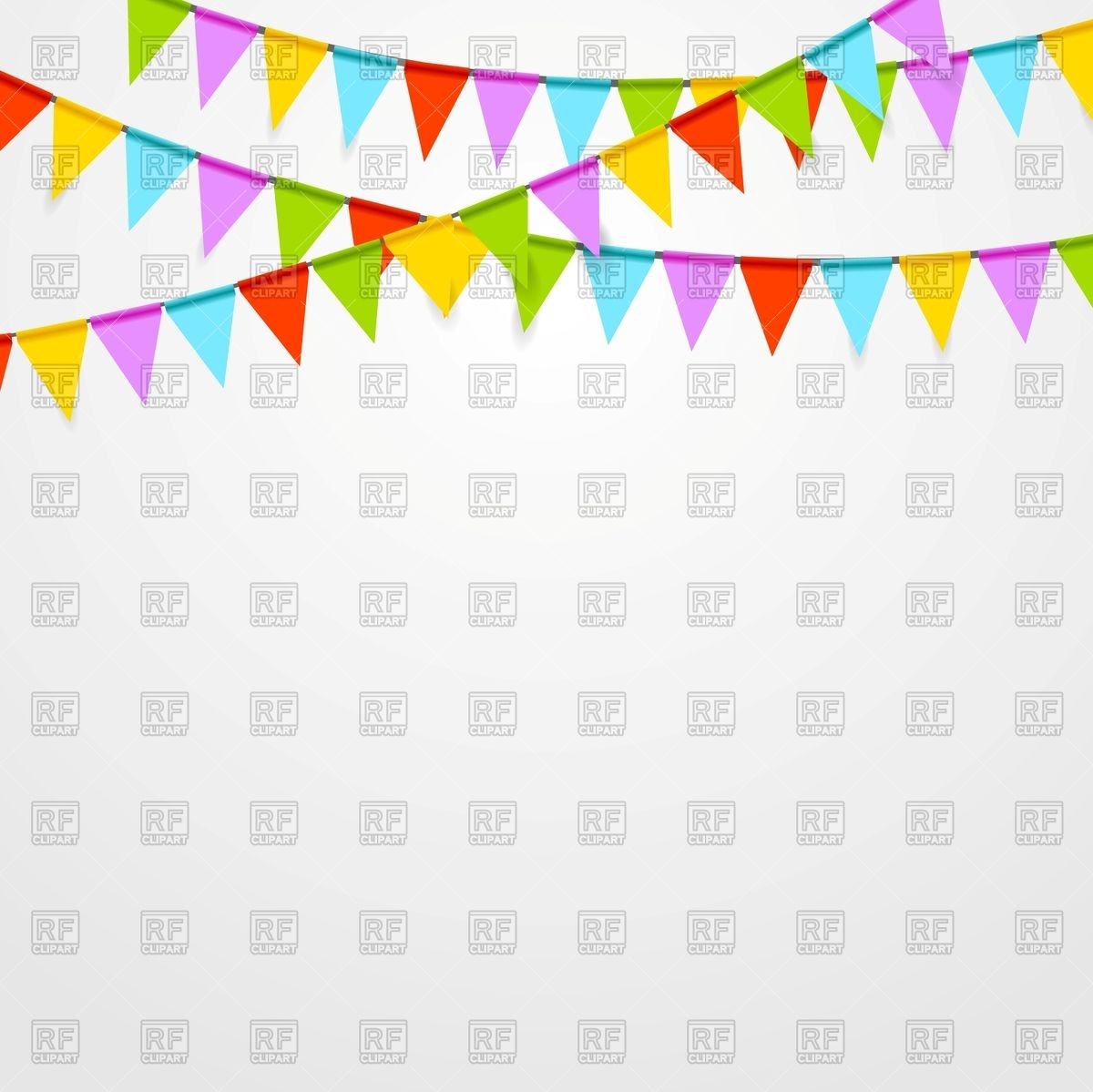 Party flags background Vector Image #75302.