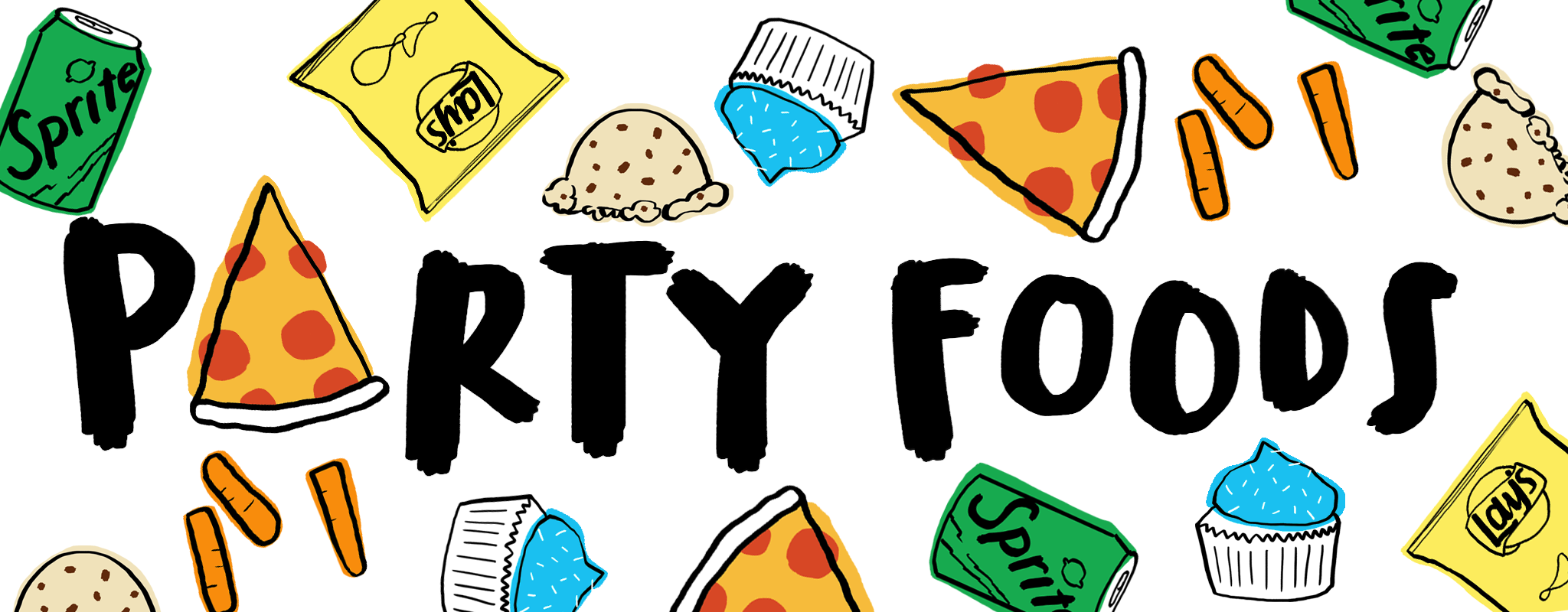 Party Food Cliparts.
