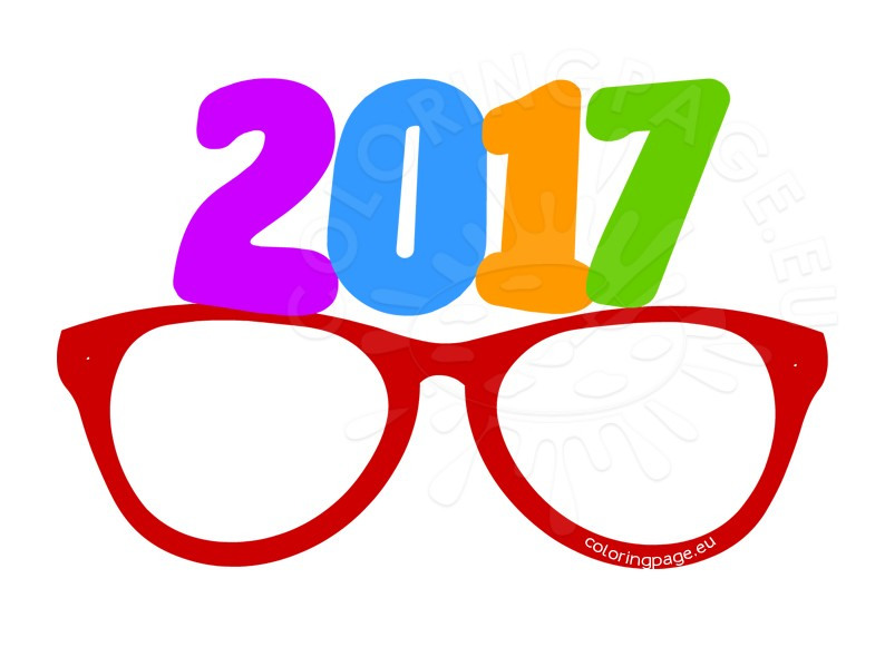 Party glasses New Year 2017.