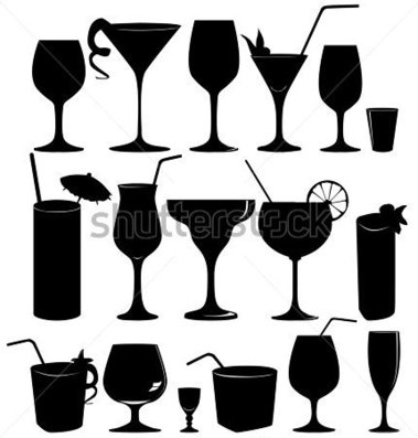 Image Gallery of Party Glasses Clipart.