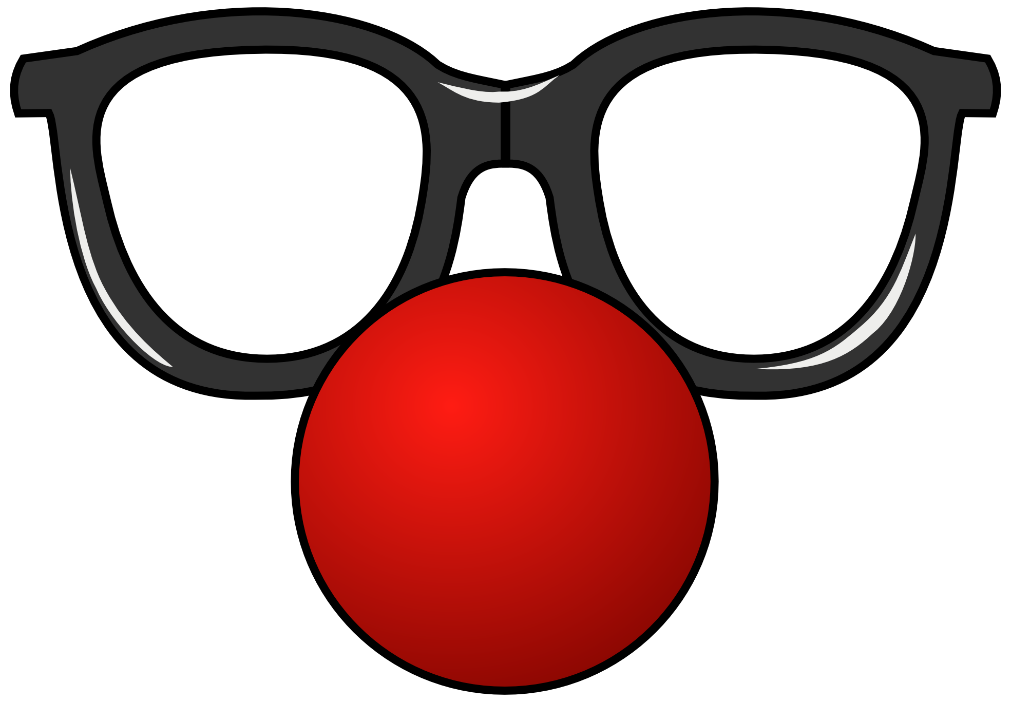 Funny glasses clipart.
