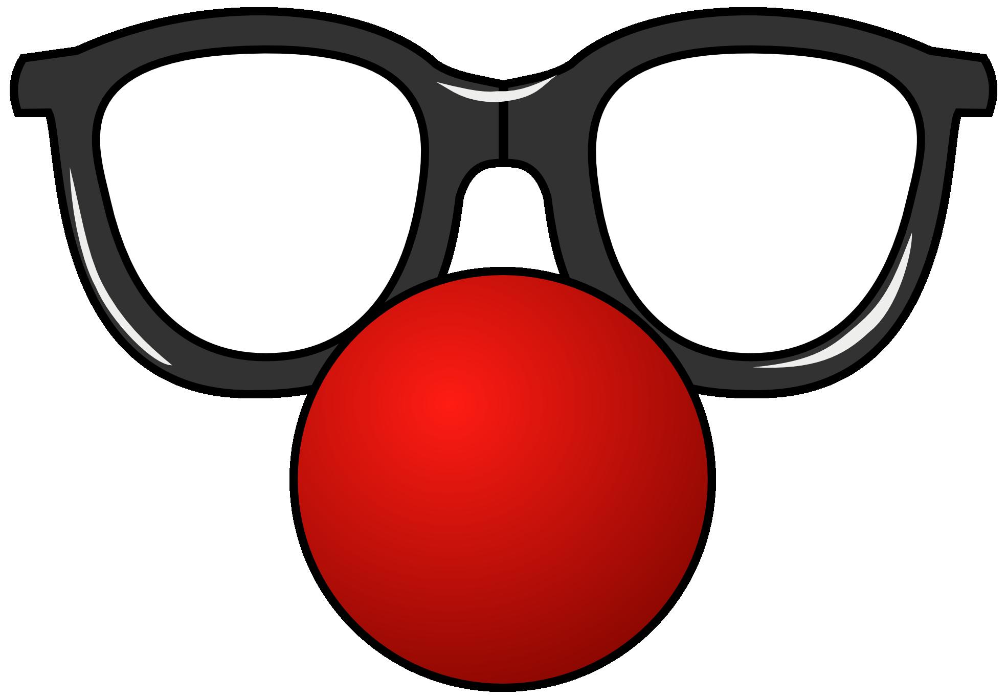 Funny glasses clipart.