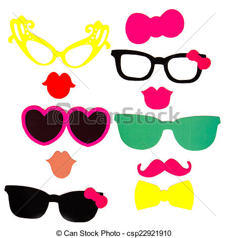 Clipart of Photobooth Birthday and Party Set.