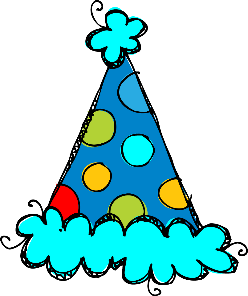 Birthday party hats clipart.