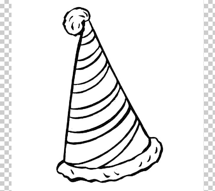 Party Hat Black And White Birthday PNG, Clipart, Area, Art.
