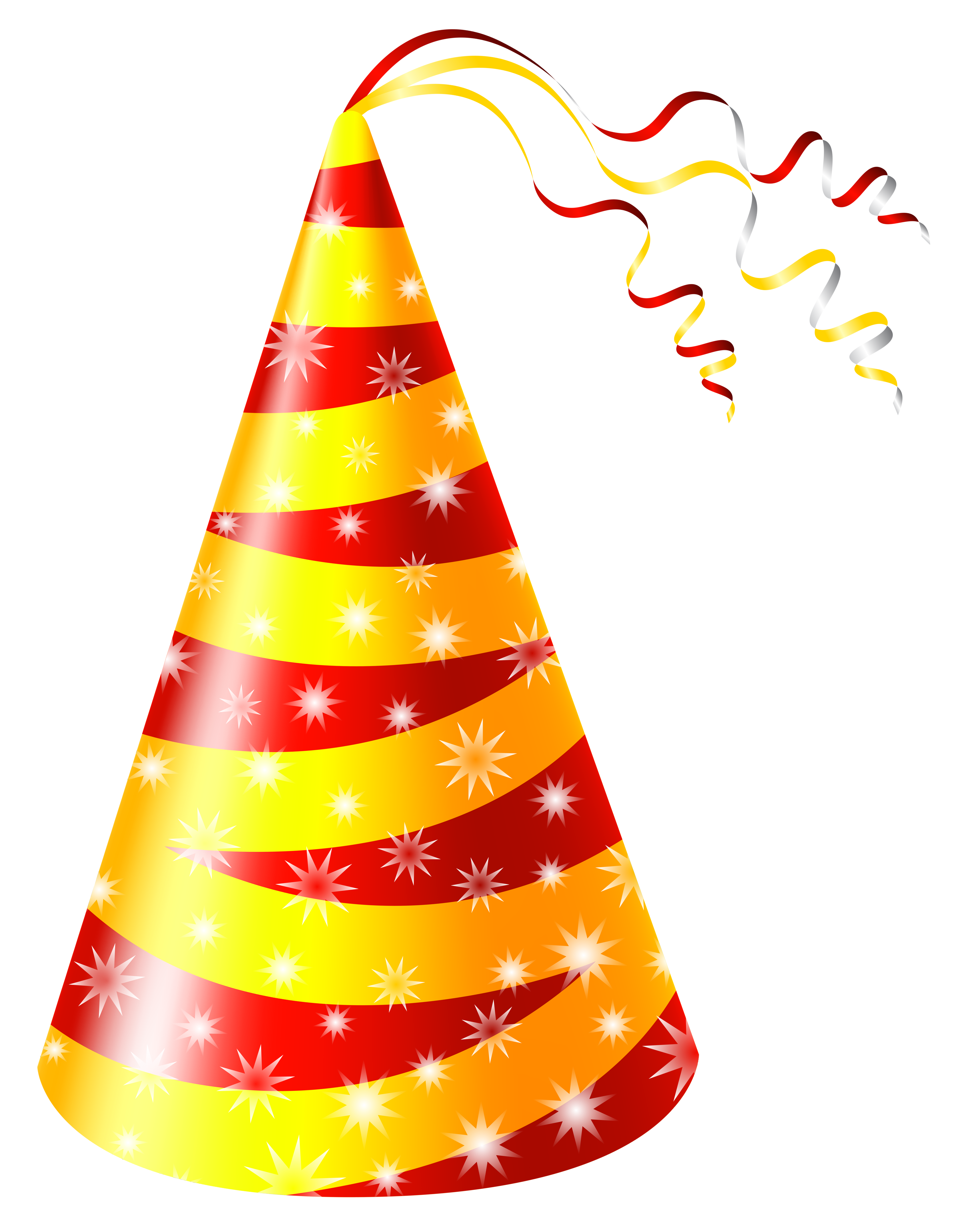 Yellow And Red Party Hat PNG Clipart Image