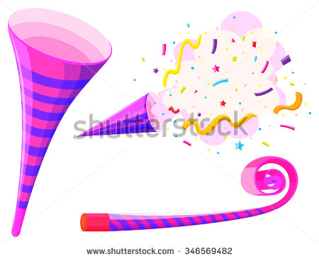 Party Horn Stock Images, Royalty.