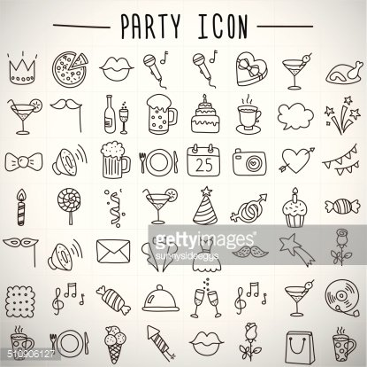 Holidays and Party Icons premium clipart.