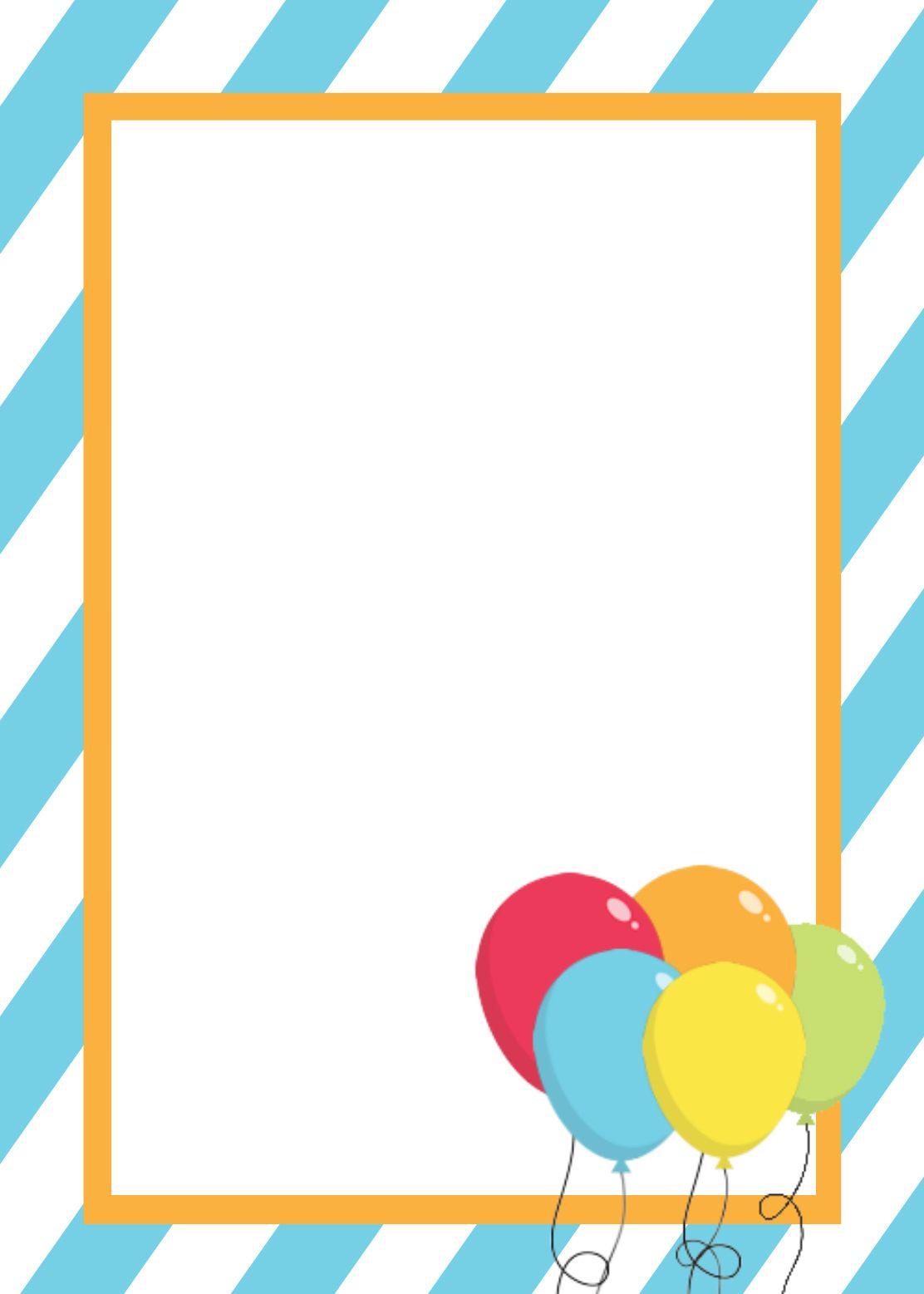 Free Printable Birthday Invitation Templates.