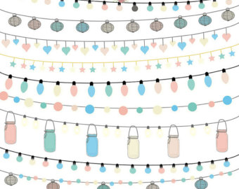 Party Lights Clipart.