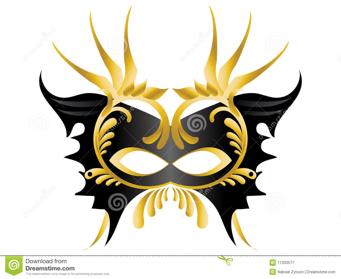 Mardi Gras, Masquerade Party Mask Royalty Free Stock Photography.