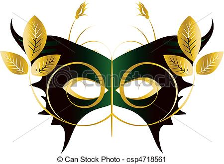 Vector Clip Art of Mardi Gras, Masquerade Party Mask, vector file.