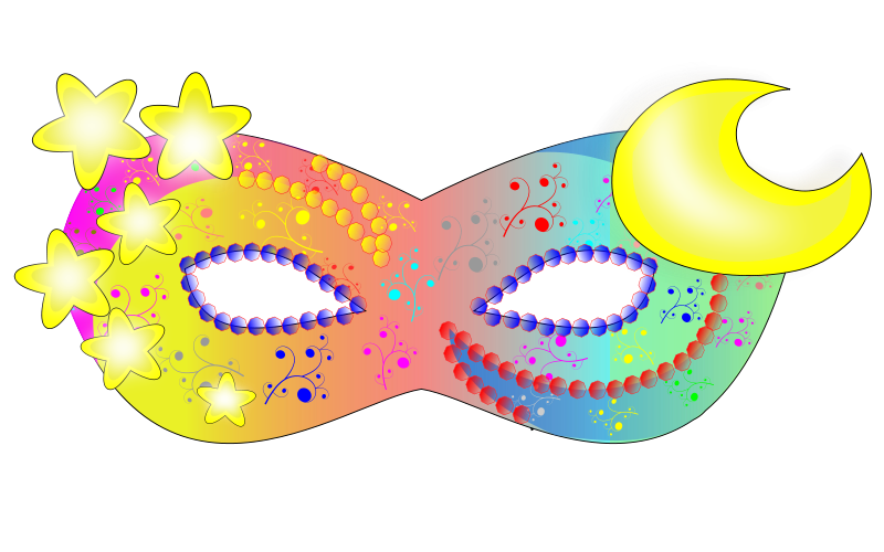 School Mask Party Clipart.