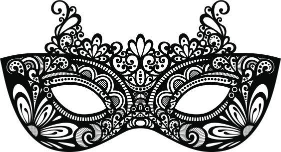Masquerade party clipart.