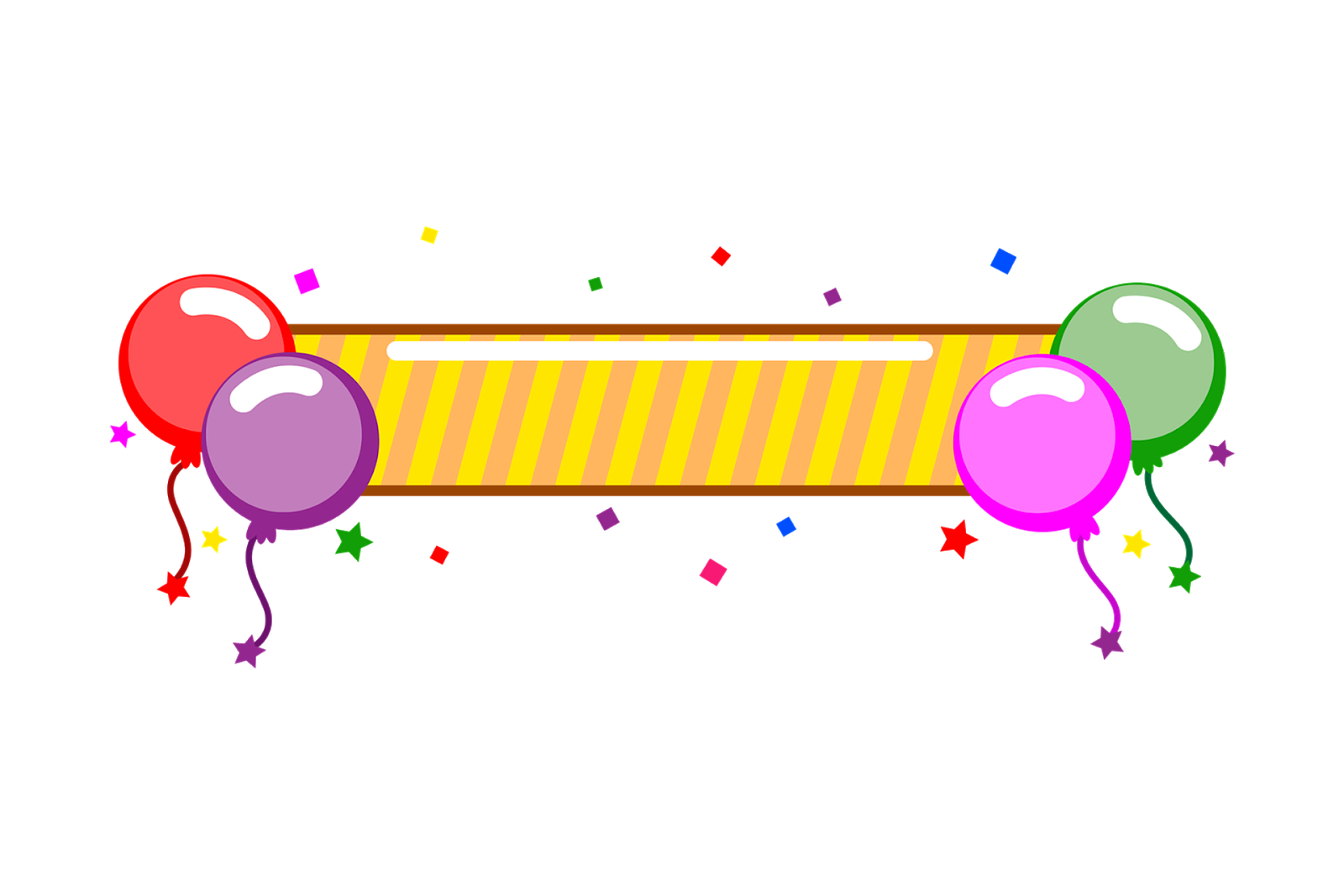 Birthday Decoration Items PNG.