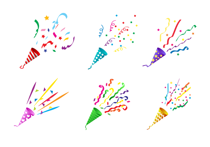 Party Popper Free Vector Art.