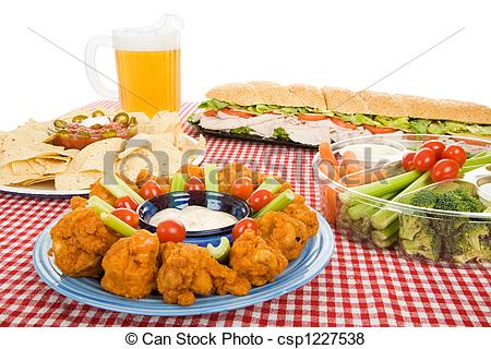 Party Foods Border and CLIP ART by Dee's Store   TpT   Adults Clipart Party Snacks