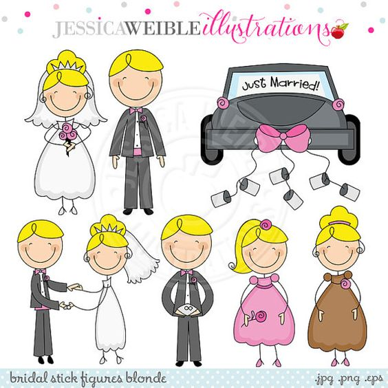 Bridal Stick Figures.