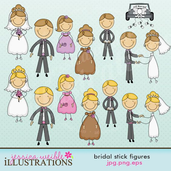 Bridal Stick Figures.