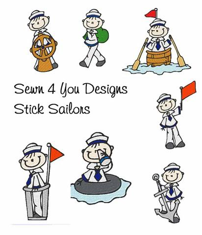 Sewn 4 You Designs~Stick Figure Embroidery Designs.