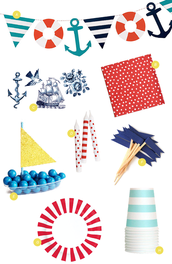 Download Free png Nautical Party Supplies.