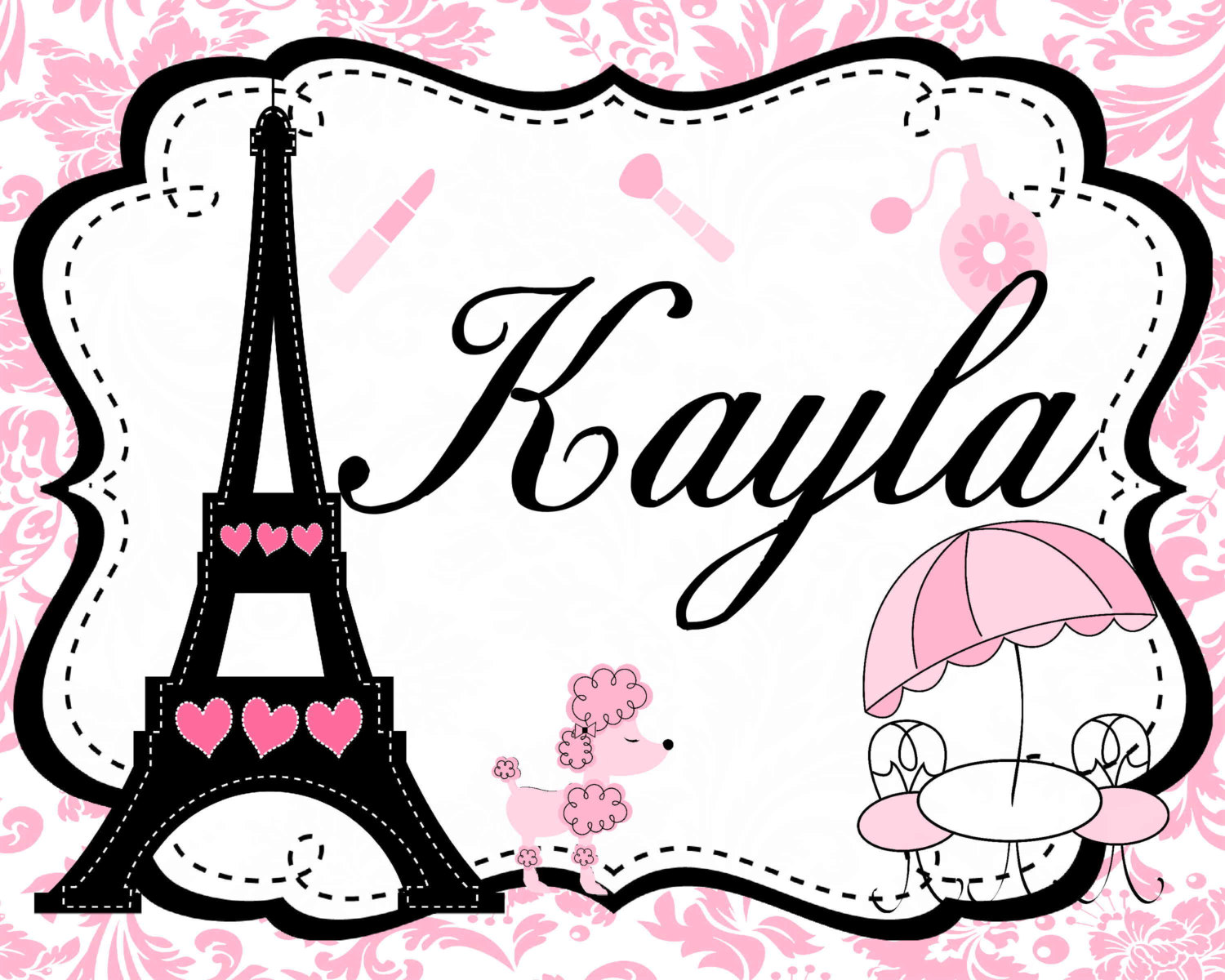 Paris Themed Background Clipart.