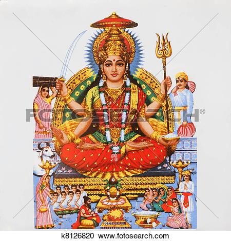 Stock Photography of image of hindu goddess Parvati k8126820.