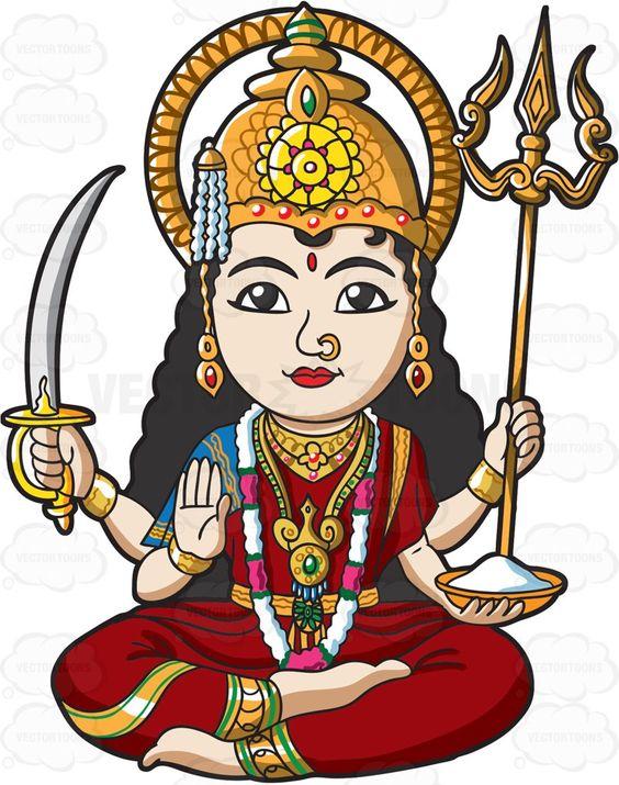 The Hindu Goddess Parvati.