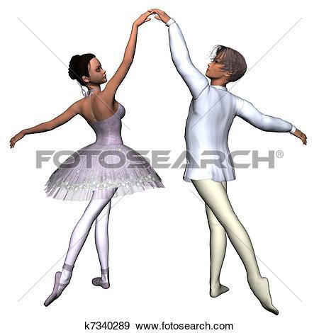 Stock Illustration of Ballet Pas de Deux k7340289.
