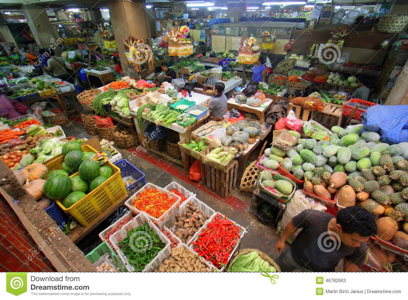 Pasar Badung In Bali Indonesia Editorial Stock Photo.