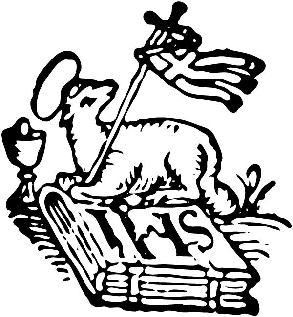 Paschal lamb clipart #7