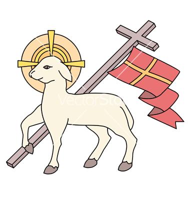 Paschal lamb clipart #3