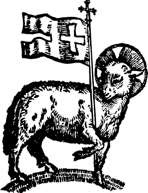 Free vector graphic: Paschal Lamb, Easter, Lamb, Flag.