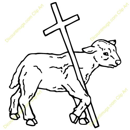 Paschal lamb clipart #16