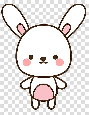 Pascua Easter, white bunny emoji transparent background PNG.