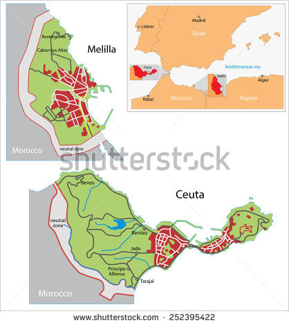 Melilla Stock Images, Royalty.