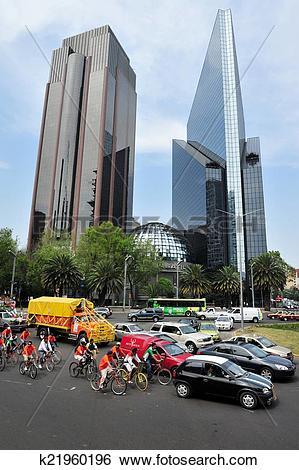 Stock Images of Paseo de la Reforma in Mexico City k21960196.