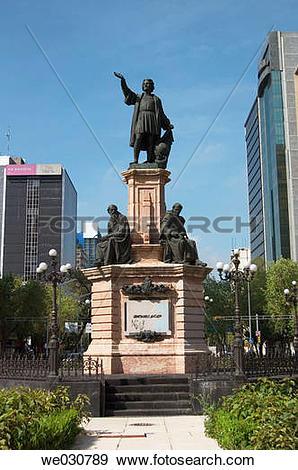 Stock Photograph of Monument to Columbus at Avenida de la Reforma.