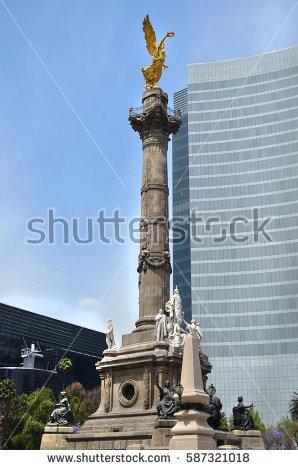 Mexico City Reforma Stock Photos, Royalty.