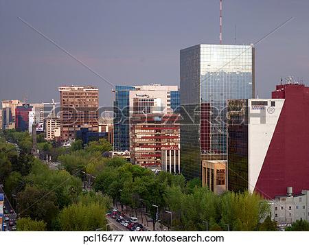 Picture of Mexico City, Paseo de la Reforma pcl16477.