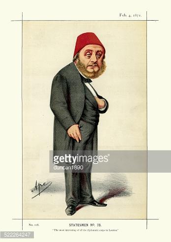 Vanity Fair Print of Constantine Musurus Pasha premium clipart.